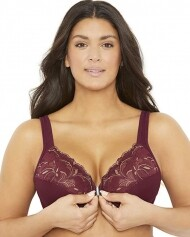 MAE Front Close Full Figure Plus Size Lace Underwire Bra
