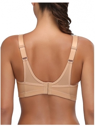 WingsLove(Deyllo) Full Coverage High Impact Wirefree Sport Bra