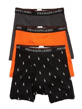 [3장묶음] Polo Ralph Lauren: Assorted 3-Pack Boxer Briefs